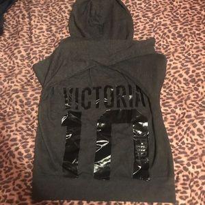 victoria 's secret hoodie .